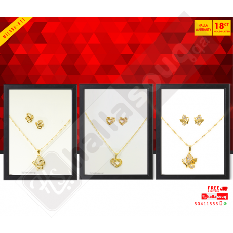 MI 011 Milano Fashion  Jewelry 18K Gold Plated Buy 2 & Get 1 Free @139 QAR