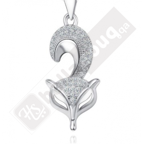 DA 500 Deeana 925 Silver Pendant with Chain Buy 1 Get 1 Free @ 139 QAR