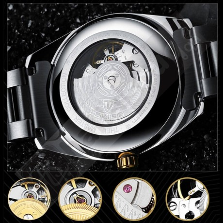 TEVISE 795D Business Men Automatic Mechanical Watch Fashion Casual Stainless Steel Strap Male Wristwatch