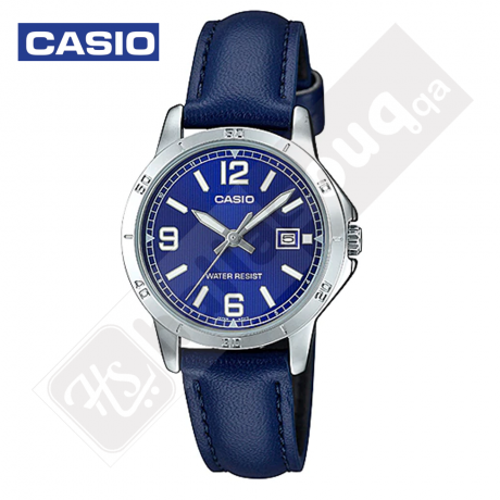 Casio LTP-V004L-2BUDF Blue Leather Women Watch